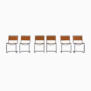 Leather S33 Dining Chairs by Mart Stam for Thonet, 1980s, Set of 6