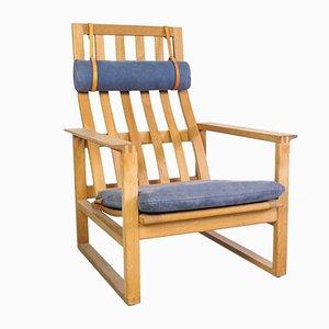 Vintage Oak Model 2254 Lounge Chair by Børge Mogensen for Fredericia