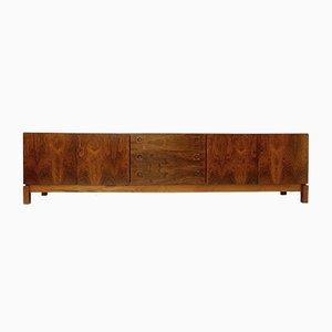 Langes Vintage Holz Sideboard