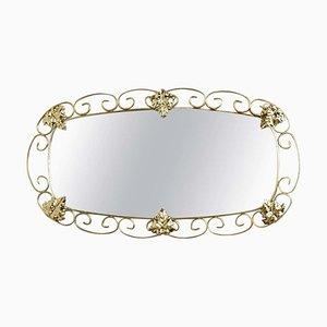 Ovaler Messing Spiegel, 1950er