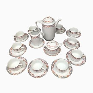 Porcelain Tea / Coffee Service for 10 People, 1911-1927, Set of 25