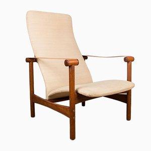 Danish Teak Lounge Chair by Jules Leleu, 1950s
