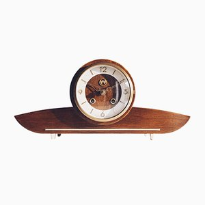 Compact German Chiming Mantel / Table Clock from Weimar-Uhren, 1950s