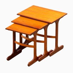 Mesas de centro escandinavas de teca. Juego de 3