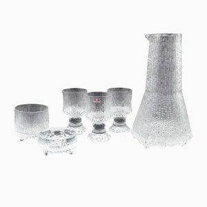 Mid-Century Gläser, Krug und Kerzenständer von Tapio Wirkkala & Timo Sarpaneva für Iittala, 6er Set