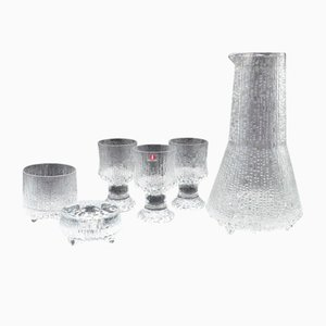 Mid-Century Glasses, Jug and Candleholder by Tapio Wirkkala & Timo Sarpaneva for Iittala, Set of 6