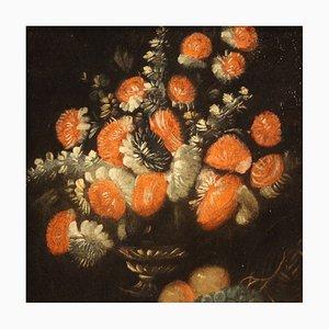 Cuadro de bodegón italiano antiguo, década de 1700