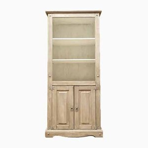 Distressed Gray & White Painted Cabinet / Dresser