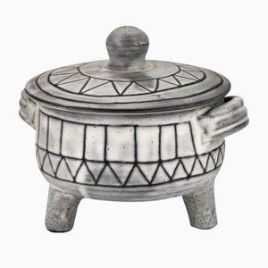 Scatola tripode in ceramica di Jacques Pouchain per Atelier Dieulefit, anni '60