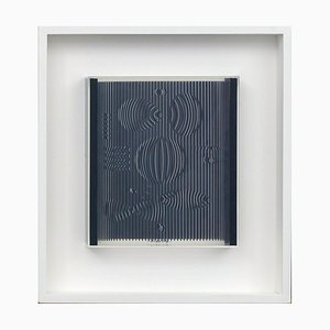 Victor Vasarely, Venus, 1987, Serigrafia su plexiglas in scatola di plexiglas