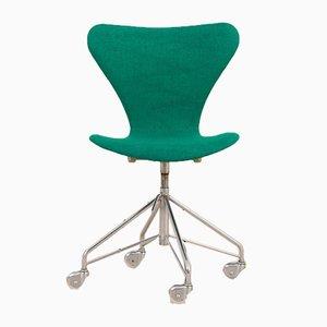 Dänischer Series 7 3117 Stuhl auf Rollen von Arne Jacobsen für Fritz Hansen, 1967