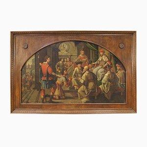 Pintura antigua grande, siglo XVIII
