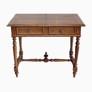 Kleiner Schreibtisch aus Nussholz, 1920er
