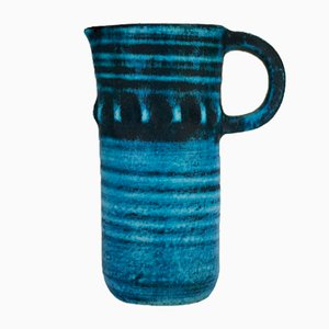 Ceramic Bleu Gitane Pitcher by Accolay, 1960s