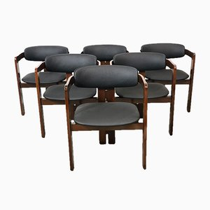Italian Pigreco Chairs by Tobia & Afra Scarpa, 1959, Set of 6