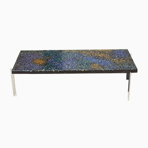 Coffee Table in Chromed Steel and Glass by Pierre Giraudon, France, 1970s
