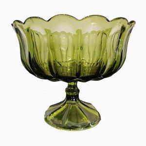 Copa vintage de vidrio tallado, años 60