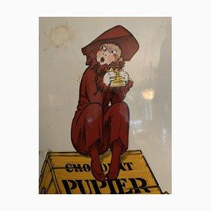 Cartel publicitario francés Art Déco de chocolate de Jean Dylen, años 20