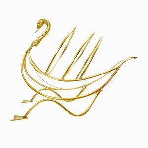 Porte-Revues Swan en Laiton