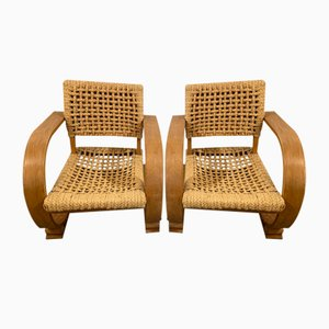 Armchairs by Adrien Audoux & Frida Minet, 1960s, Set of 2