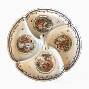 Bandeja de servicio KPM Berlin Watteau de porcelana, 1885