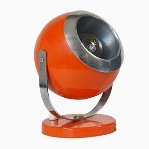 Space Age Round Orange Table Lamp