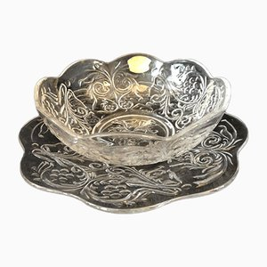 Cristal Bowls from Val St Lambert, Set of 2