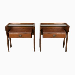 Vintage Italian Nightstands by Vittorio Dassi, 1950s, Set of 2