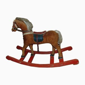 Art Deco Wooden Rocking Horse