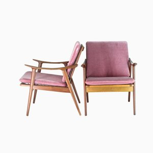 Teak Easy Chairs by Fredrik A. Kayser for Vatne Lenestolfabrikk, Set of 2