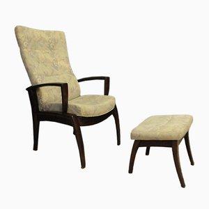 Sessel mit Fußhocker von Farstrup Møbler, 1970er, 2er Set