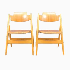 Vintage SE18 Folding Chairs by Egon Eiermann for Wilde+Spieth, Set of 6