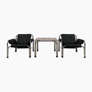 Mesa y butacas de Viliam Chlebo, años 80. Juego de 2