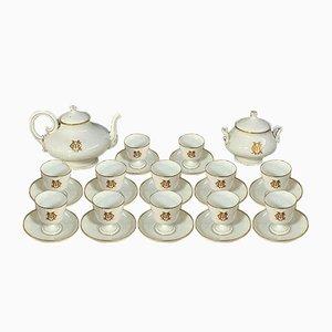 Servicio de café de porcelana, década de 1880. Juego de 26