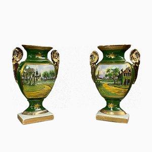 Empire Porcelain Vases by Sevres, Set of 2