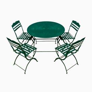 Juego de muebles de jardín, años 40. Juego de 5