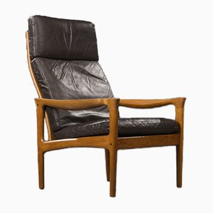 Danish Teak Lounge Chair Attributed to Illum Wikkelso from Glostrup, 1960s