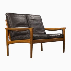 Teak 2 Seater Sofa by Illum Wikkelso for Glostrup, Denmark, 1960s