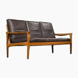 Teak 3 Seater Sofa by Illum Wikkelso for Glostrup, Denmark, 1960s