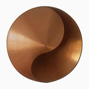 Brass Yin-Yang Wall Lamp by Hermian Sneyders De Vogel for Raak Amsterdam, 1970s