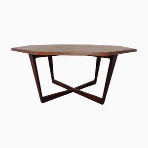 Danish Octagonal Teak Coffee Table, 1960s
