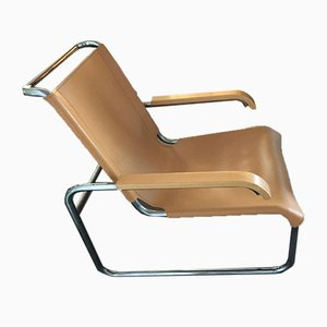 B35 Cantilever Leather Chair by Marcel Breuer for Thonet, 1930s