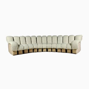 DS-600 13-Piece Sofa in Creme Leather from de Sede, 1970s