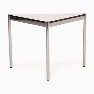 Schreibtisch aus Metall & weißem Chrom von Usm Haller