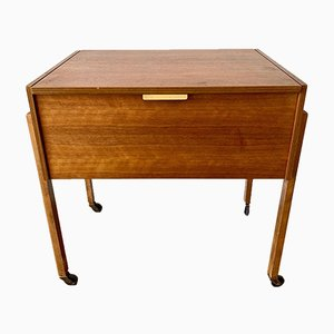 Mid-Century Wooden Sewing Box, 1950s