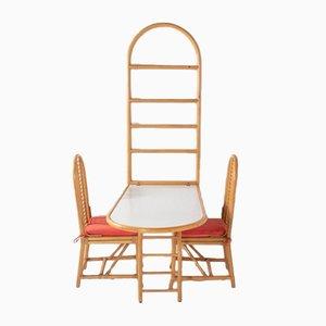 Italienischer Moderner Wandtisch mit Stühlen, 1960er