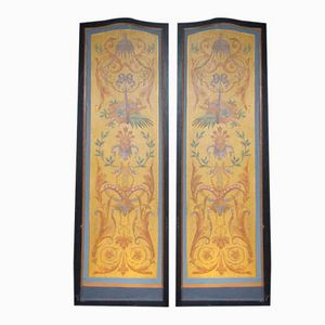 Decorative Art Nouveau Panels, Set of 2