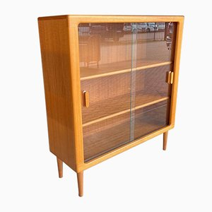 Danish Teak Display Cabinet, 1950s