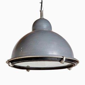 Grey Hemispherical Industrial Pendant