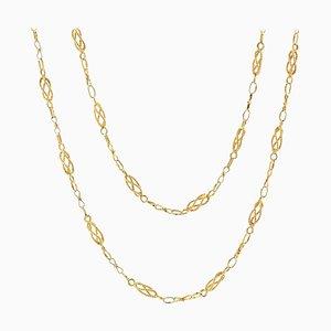 Collar Twisted Links de oro amarillo de 18 quilates, siglo 20